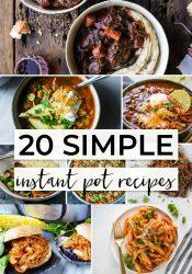 20 + Simple Instant Pot Recipes
