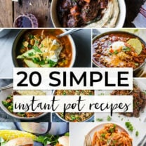 20 + Simple Instant Pot Recipes