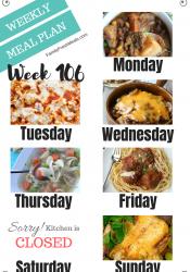 Easy Weekly Meal Plan Week 106