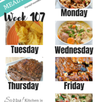 Easy Weekly Meal Plan Week 107