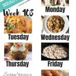 Easy Weekly Meal Plan Week 108