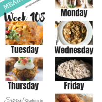 Easy Weekly Meal Plan Week 108