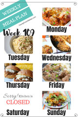 Easy Weekly Meal Plan Week 109 - Family Fresh Meals