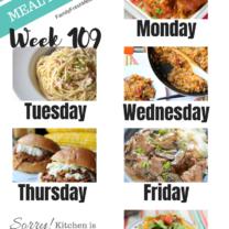 Easy Weekly Meal Plan Week 109