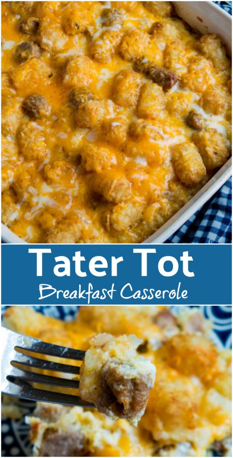 Cheesy Tater Tot Breakfast Casserole Recipe -- Family Fresh Meals