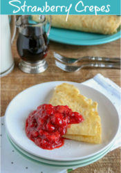 Easy Strawberry Crepes