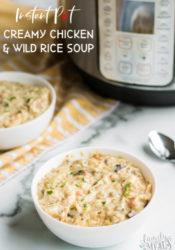 Instant Pot Creamy Chicken Wild Rice Soup