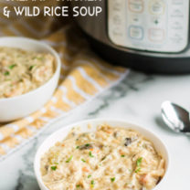 Instant Pot Creamy Chicken Wild Rice Soup
