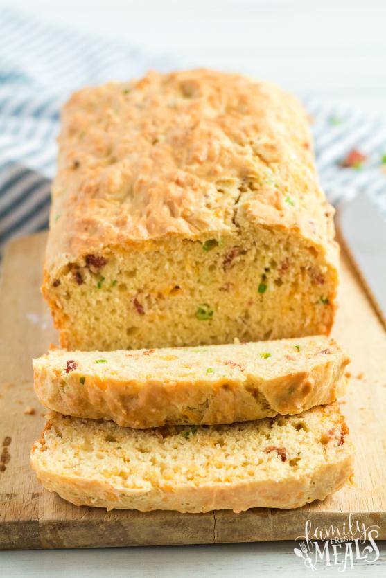 Bacon Cheddar Irish Soda Bread - Easy bread recipe - Family Fresh Meals