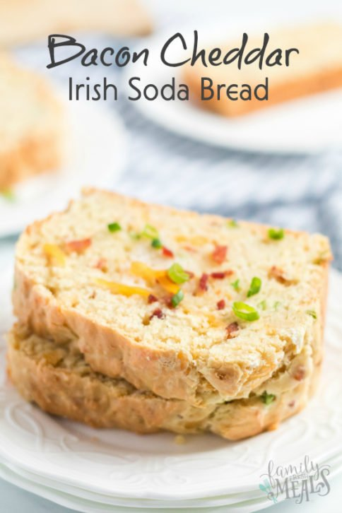 Bacon Cheddar Irish Soda Bread Recipe - Family Fresh Meals
