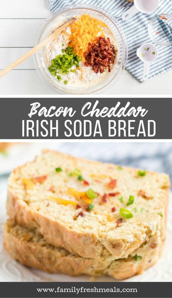 Bacon Cheddar Irish Soda Bread Recipe - Family Fresh Meals Recipe -