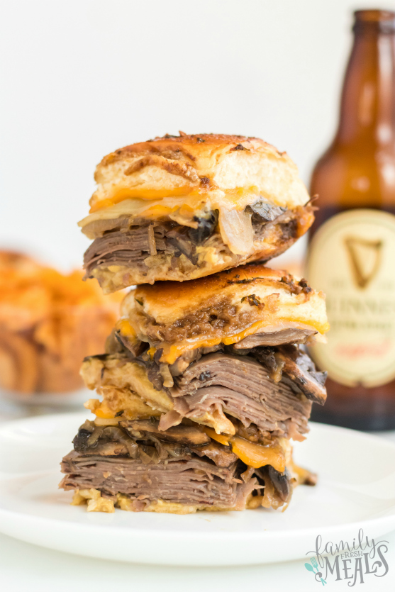 Cheesy Guinness Beef Sliders - Easy Slider Recipe- Family Fresh Meals