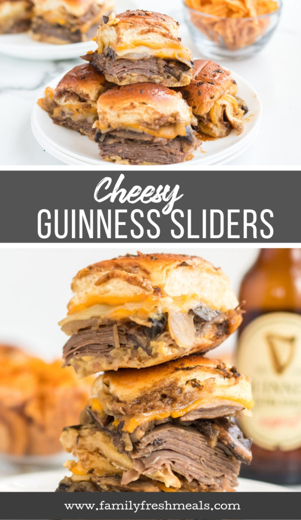 Cheesy Guinness Beef Sliders Recipe from Family Fresh Meals