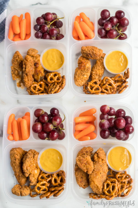 Chicken Tenders Lunchbox Idea - Family Fresh Meals Work Lunch or School Lunch