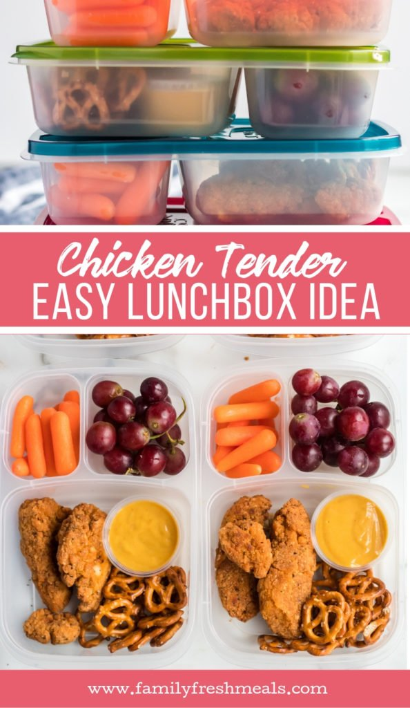 Chicken Tenders Lunchbox Ideas from Family Fresh Meals