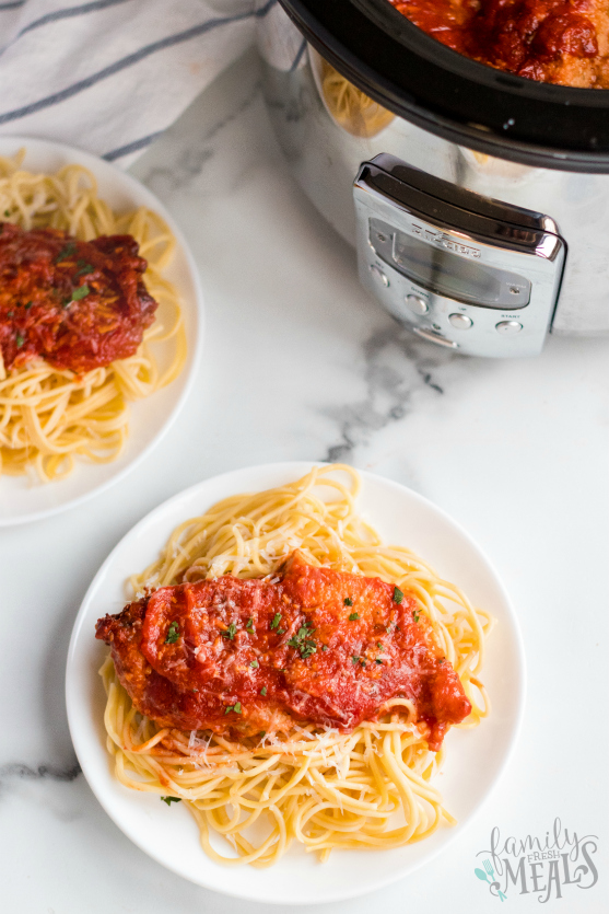 Crockpot Chicken Parmesan Recipe - Family Fresh Meals