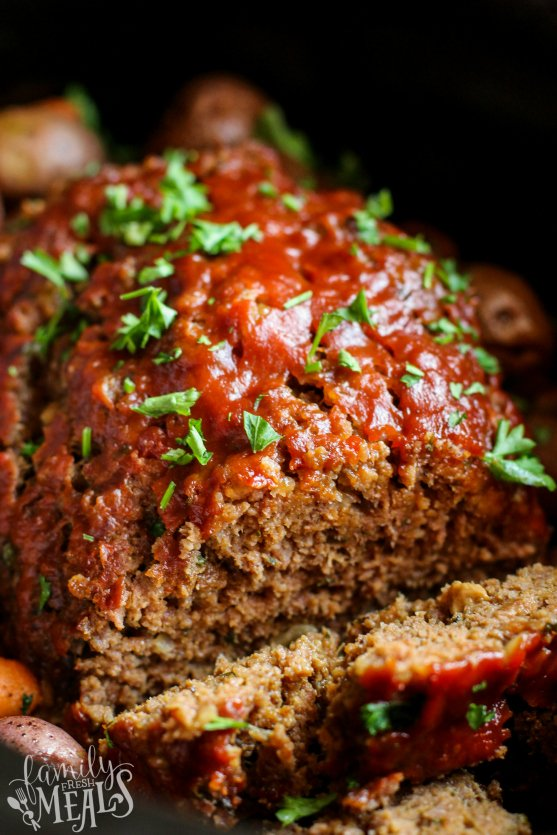 Crockpot Meatloaf Dinner Recipe -- Family Fresh Meals Slow Cooker Meatloaf