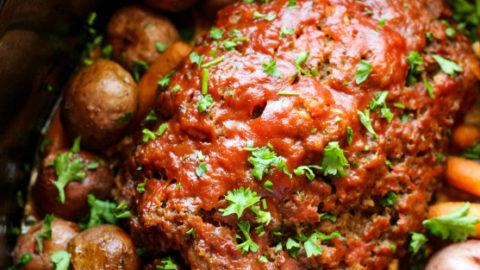 Easy Crockpot Meatloaf Dinner Recipe - Family Fresh Meals
