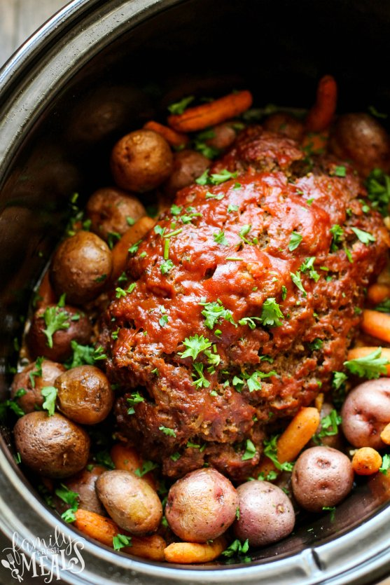 Easy Crockpot Meatloaf Dinner Family Fresh Meals