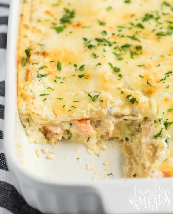 Easy Seafood Lasagna recipe - Family Fresh Meals Recipe