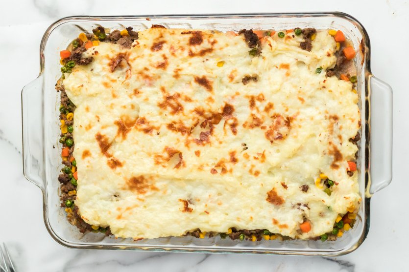 Easy Shepherds Pie Recipe - Cooked Beef Shepherds Pie