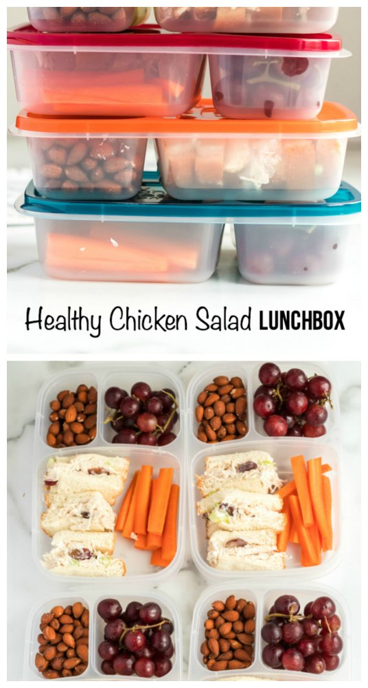 Healthy Chicken Salad lunchbox Idea - A great work or school lunch idea! - Family Fresh Meals recipe