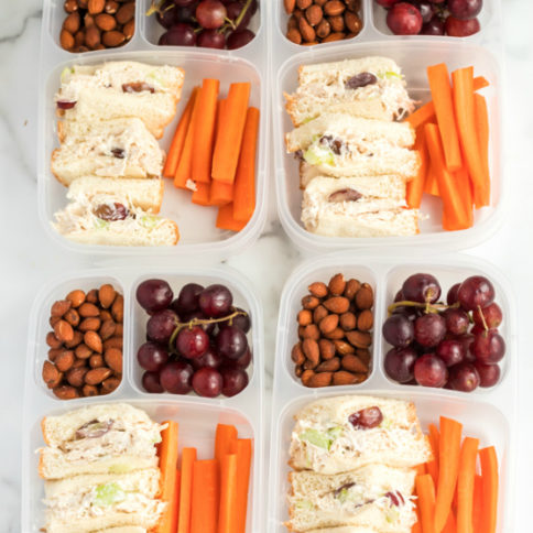 Healthy Chicken Salad lunchbox Idea - A great work or school lunch idea! Family Fresh Meals recipe