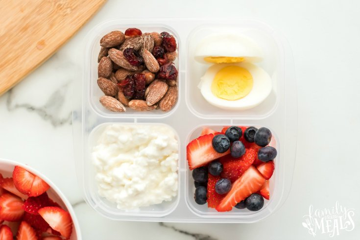 Healthy Grab and Go Protein Breakfast Boxes - Easy breakfast idea - Family Fresh Meals