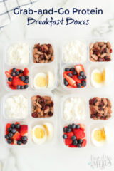 Healthy Grab and Go Protein Breakfast Boxes - Family Fresh Meals breakfast or lunchbox idea