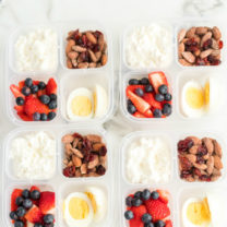 Healthy Grab and Go Protein Breakfast Boxes