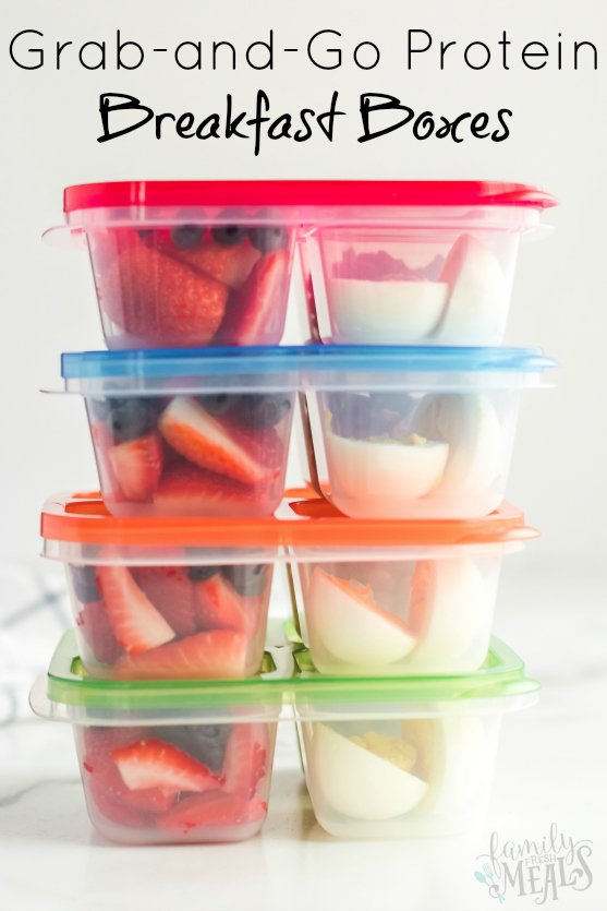 Healthy Grab and Go Protein Breakfast Boxes Ideas - Family Fresh Meals