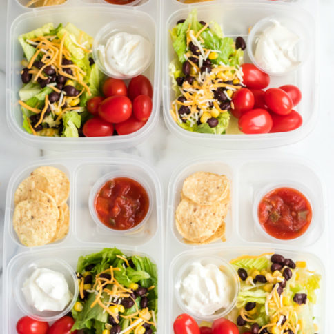 Healthy Taco Salad Lunchbox Idea - Family Fresh Meals school and work lunch idea