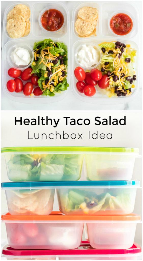 Healthy Taco Salad Lunchbox Idea - Healthy Work lunch idea- Family Fresh Meals