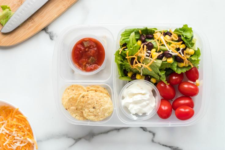 Healthy Taco Salad Lunchbox Idea - healthy lunchbox idea