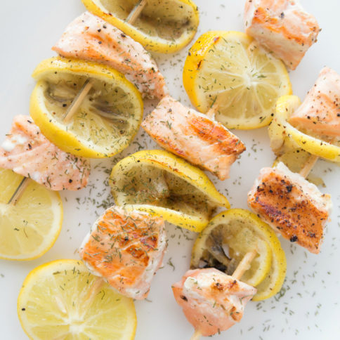 Lemon Salmon Kabobs Recipe - Family Fresh Meals