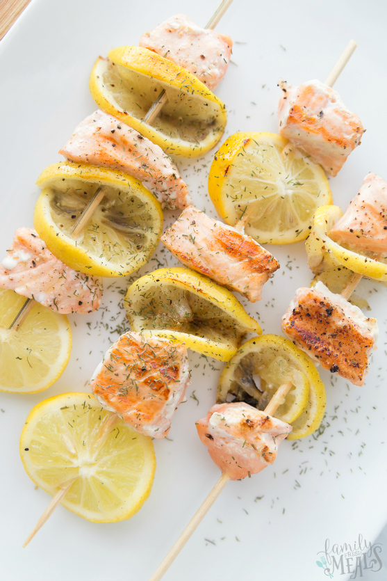 Lemon Salmon Kabobs Recipe - Family Fresh Meals