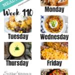 Easy Weekly Meal Plan Week 110