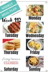 Easy Weekly Meal Plan Week 112- Family Fresh Meals