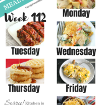 Easy Weekly Meal Plan Week 112