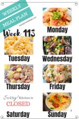 Easy Weekly Meal Plan Week 113- Family Fresh Meals