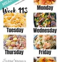 Easy Weekly Meal Plan Week 113