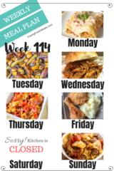 Easy Weekly Meal Plan Week 114- Family Fresh Meals