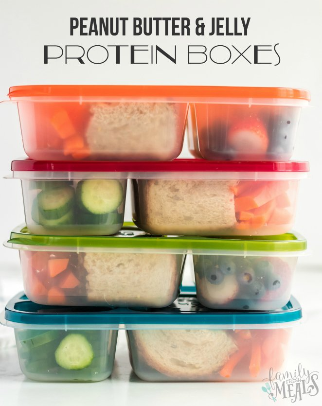 Peanut Butter Jelly Protein Box Recipe - Family Fresh Meals