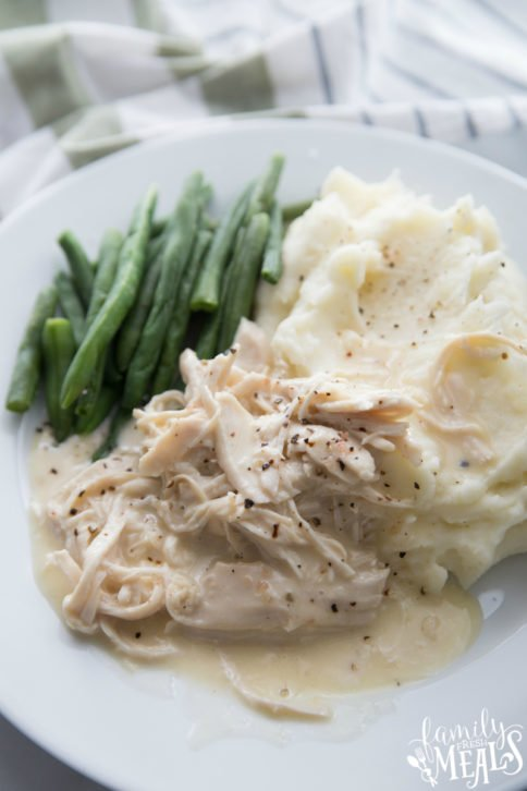 The Best Crockpot Chicken and Gravy Recipe - Family Fresh Meals