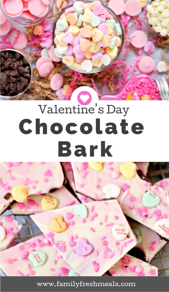 Valentine's Day Chocolate Bark Recipe - Family Fresh Meals Dessert