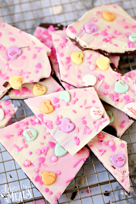 Valentine's Day Chocolate Bark Recipe - Family Fresh Meals