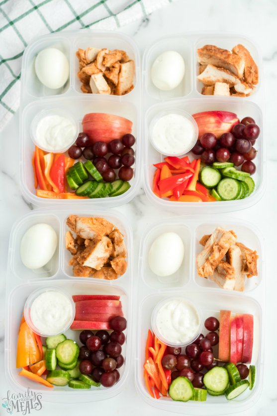 Weight Watchers Zero Point Lunchbox - Healthy work lunchbox idea - Family Fresh Meals