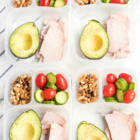 Avocado Keto Lunchbox Idea - Family Fresh Meals Easy Lunch idea