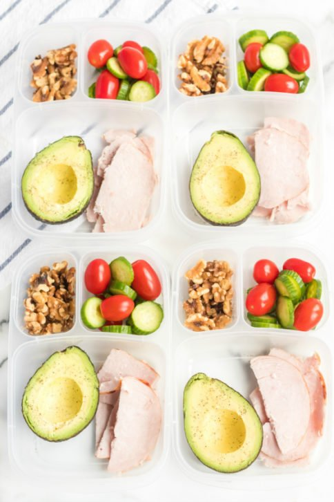Avocado Keto Lunchbox Idea - Family Fresh Meals Easy Lunch idea