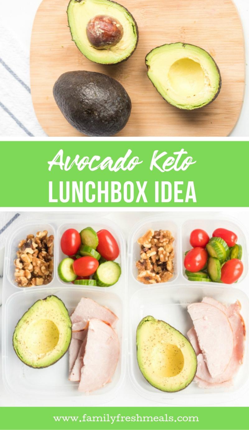 Avocado Keto Lunchbox Idea #familyfreshmeals #lunchbox #lunchboxidea #keto #healthy #worklunch #schoollunch #lunch #cleaneating via @familyfresh